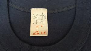GARDA JUNIOR 0370. Maglietta intima, manica corta bimbi. Caldo Cotone felpato.