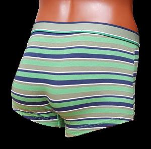 BUCCIADIMELA. 3x Boxer uomo STRECH COTTON Underwear - B064. Grigio + Blu + Verde