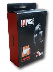 IMPOSE - BASIC LINE. 24187. 3 x Slip Uomo in 100% Cotone. Confezione scatolo.