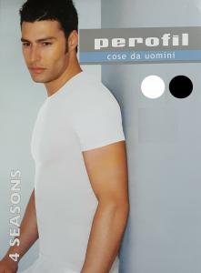 PEROFIL 4 SEASONS 24147. T-shirt - Mezza manica, girocollo, Uomo. Lycra e Cotone