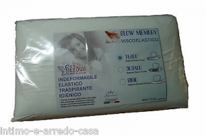 Guanciale - Cuscino SLOW MEMORY TESEO - Visco-elastico Rivestimento 100% Cotone