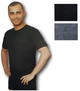 REGENT 100. Maglietta intima T-shirt, Uomo manica corta, girocollo Cotone caldo.
