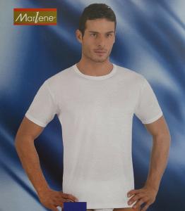 MARLENE 30292. Maglietta intima T-shirt Uomo manica corta girocollo Cotone caldo