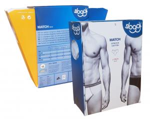 SLOGGI MATCH Midi Intimo Double Pack. Slip Uomo 2 pezzi cotone elasticizzato.
