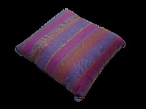 Cuscino arredo DOUBLEFACE - 40x40 - Cotone. Sfoderabile - Art. C5. Colore Blu