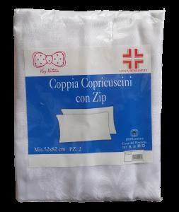 VIVY VICTORIA BENESSERE DAMASCO Coppia Federe con zip Copriguanciale 52x82 Linea