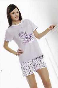 S2G - D6278. Pigiama donna corto. Mezza manica - pantalone corto. 100% Cotone.
