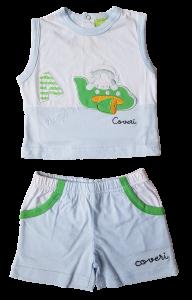 ENRICO COVERI  SUMMER 561 Completo Neonato Maglietta spalla larga + Pantaloncino
