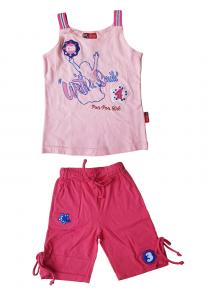MANAI 21013 Completino Neonata Bambina Maglietta spalla stretta + Pantaloncino