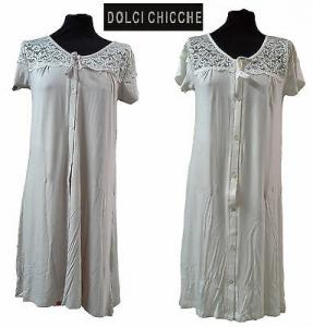 DOLCI CHICCHE - 2415. Camicia da notte, Canotta, aperta a mezza manica.
