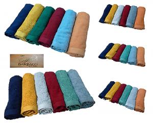 Set asciugamani spugna Natural Soft . BARBACCI. 6 Viso + 6 ospite. 100% Cotone.