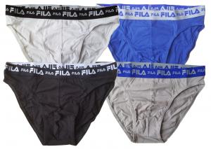 BASIC COTTON FILA UH203 Slip Uomo 2 pezzi bipack elastico Intimo stretch Cotton