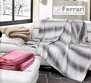 GF. FERRARI ARTU'. Plaid, Coperta in Microfibra Jacquard effetto cashmere.