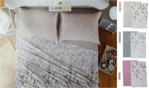 LINEA ORO GARDENS. Completo letto, Lenzuola Flanella. Singolo - 1 piazza e mezza