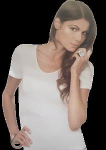 EMMEBIVI 91403 T-Shirt donna, maglietta a mezza manica Lana Vergine e Seta