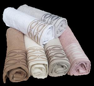 GF FERRARI Set bagno Dis. 6 Asciugamani 6 Viso + 6 ospiti in spugna Cotone 100%