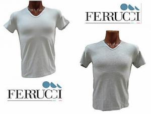 FERRUCCI AMLETO. T-shirt - Mezza manica. Uomo, Intimo. Scollo V. 100% Cotone.
