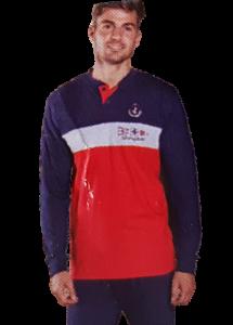 NAVIGARE B2140984 Pigiama Uomo Bordato Cotone Jersey Pantalone + Manica lunga