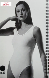 LIBERTI World - 54670. Body Donna Spalla larga. Lycra e Cotone.