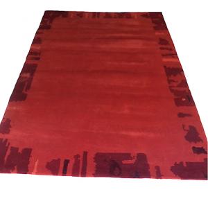 WISSENBACH - LHOTSE 1524 rot Tappeto tessuto a mano 170x240 - 4,08mq Terra siena