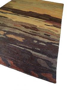 WISSENBACH - HIGHLAND 925 schoko - Tappeto tessuto a mano lana. 120x180 - 2,16mq