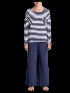 RAGNO D239NQ Pigiama lungo primaverile Donna Girocollo manica lunga in Cotone