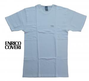 ENRICO COVERI 5020. Maglietta intima Uomo, manica corta girocollo Cotone caldo