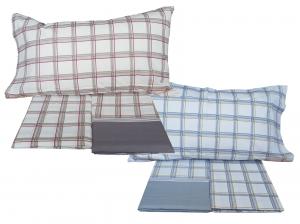 MAE' TARTAN Lenzuola completo set letto 100% Cotone 150/180 fili Made in Italy