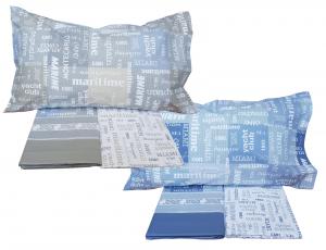 MAE' MIAMI. Lenzuola completo set letto 100% Cotone 150/180 fili Made in Italy