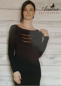 ANDRA Sottosopra 3809. Sottogiacca donna a Manica lunga, Camiciola, Maglietta.