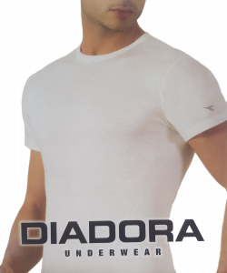 DIADORA 6067. T-Shirt uomo 3 pezzi, maglietta manica corta girocollo 100% Cotone