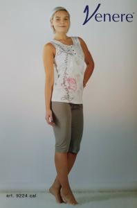 VENERE 9224. Pigiama donna corto, Canotta + Pantalone corto. Misure Calibrate.
