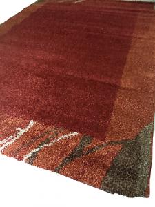 PP - SANTANA - Tappeto arredo tessuto 100% - 120x170. Colore Rosso.