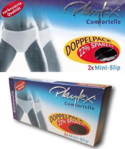 PLAYTEX - COMFORTELLE Cotone 6703. 2 Slip Donna elasticizzati, Modello MINI.