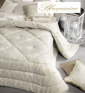 BLUMARINE. Trapunta, piumone invernale. DIMORA. Jacquard Matrimoniale, 2 piazze