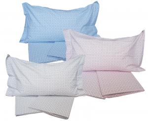 Completo letto,Set lenzuola Puro Cotone CALEFFI - CLAN. Singolo, 1 piazza.