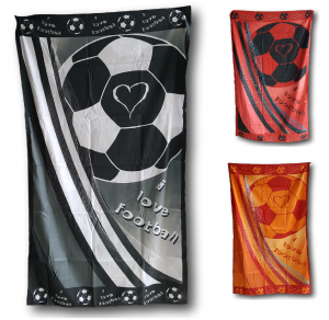 FOOTBAL CLUB. Telo, asciugamano Mare in Microfibra FOOTBAL - LH687. 90 x 175.