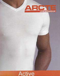 ARCTE - CESOIA. T-shirt - Mezza manica. Uomo, Intimo. Scollo a V. 100% Cotone.