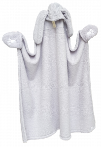 LINEA ORO - ABBRACCIO. Plaid, coperta da indossare 150 x 120 cm. micropelliccia