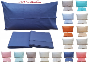 MAE IN COLORS. Lenzuola completo set letto 100% Cotone 150/180 fili Made in Italy