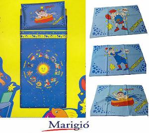 MARIGIO - ZODIACO JUNIOR. Completo Lenzuola. Singolo - 1 Piazza. Misure MAXI.