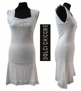 DOLCI CHICCHE, 24442. Camicia da notte donna, Canotte spalla larga. 100% Cotone.