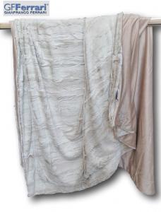 GF. FERRARI. Plaid DENVER 150 x 200, Coperta in morbida Pelliccia ecologica.