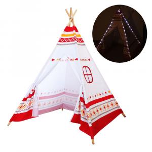 Tenda degli indiani LED Teepee Sunny Rossa/Bianca