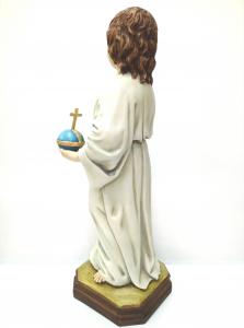 Statua in marmo-resina Gesù Bambino della Strenna cm. 25 prodotto da LLL Landi Made in Italy