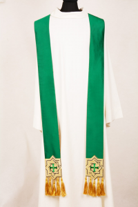 Stola SB133 verde - Pura Seta