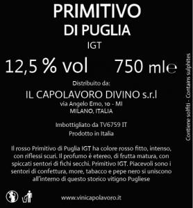 PRIMITIVO DI PUGLIA IGT