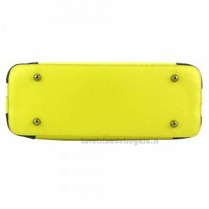 Borsa gialla donna a mano con tracolla in pelle - Irma - Pelletteria Fiorentina