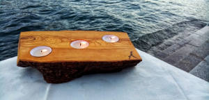 Portacandele - Candleholder 3 candele (ulivo)