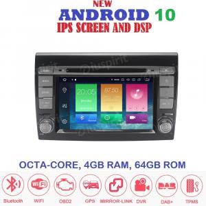 ANDROID 10 autoradio 2 DIN navigatore per Fiat Bravo 2007-2014 GPS DVD WI-FI Bluetooth MirrorLink